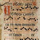 Medieval Spanish Antiphonary Page by Christian Sheehy