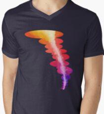 Colorful Rainbow Sunset Tornado  Men's V-Neck T-Shirt