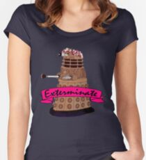 Hipster Dalek. Women's Fitted Scoop T-Shirt