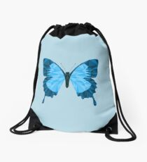 Geometric Butterfly Drawstring Bag