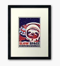 Sloth in Space Framed Print