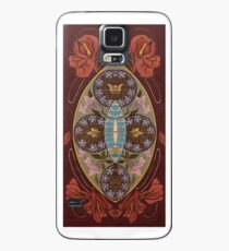 Painting of a Girl in a Red Hat in the style of Alphonse Mucha Case/Skin for Samsung Galaxy