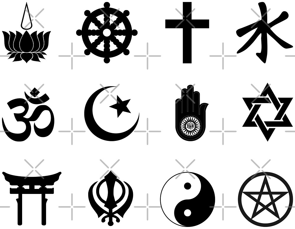 World Religions Symbols Stickers Set 2 By Litmusician Redbubble