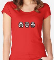 Pokemon Characters Lineup - Pixels Women's Fitted Scoop T-Shirt