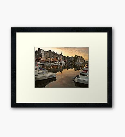 honfleur evening Framed Print