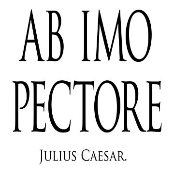 ab imo pectore; from the bottom of my heart. Attributed to Julius Caesar. by TOMSREDBUBBLE