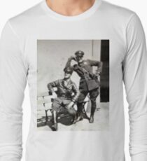 Campy Motorcycle Cops Long Sleeve T-Shirt