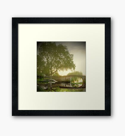 Reflected tree...with a twist Framed Print
