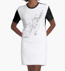 Springtime Café Graphic T-Shirt Dress
