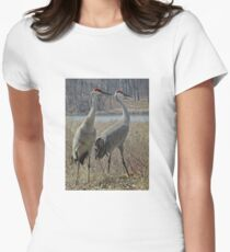 Cherokee Marsh Sandhill Cranes  Women's Fitted T-Shirt