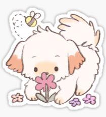 spring puppy Sticker