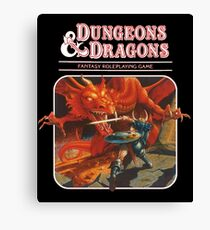 DUNGEONS AND DRAGONS RED BOX Canvas Print