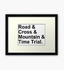 Bicycling Styles Framed Print