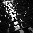shot on iphone .. wet cobblestones by badduck09