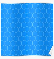 Blue Hex Poster