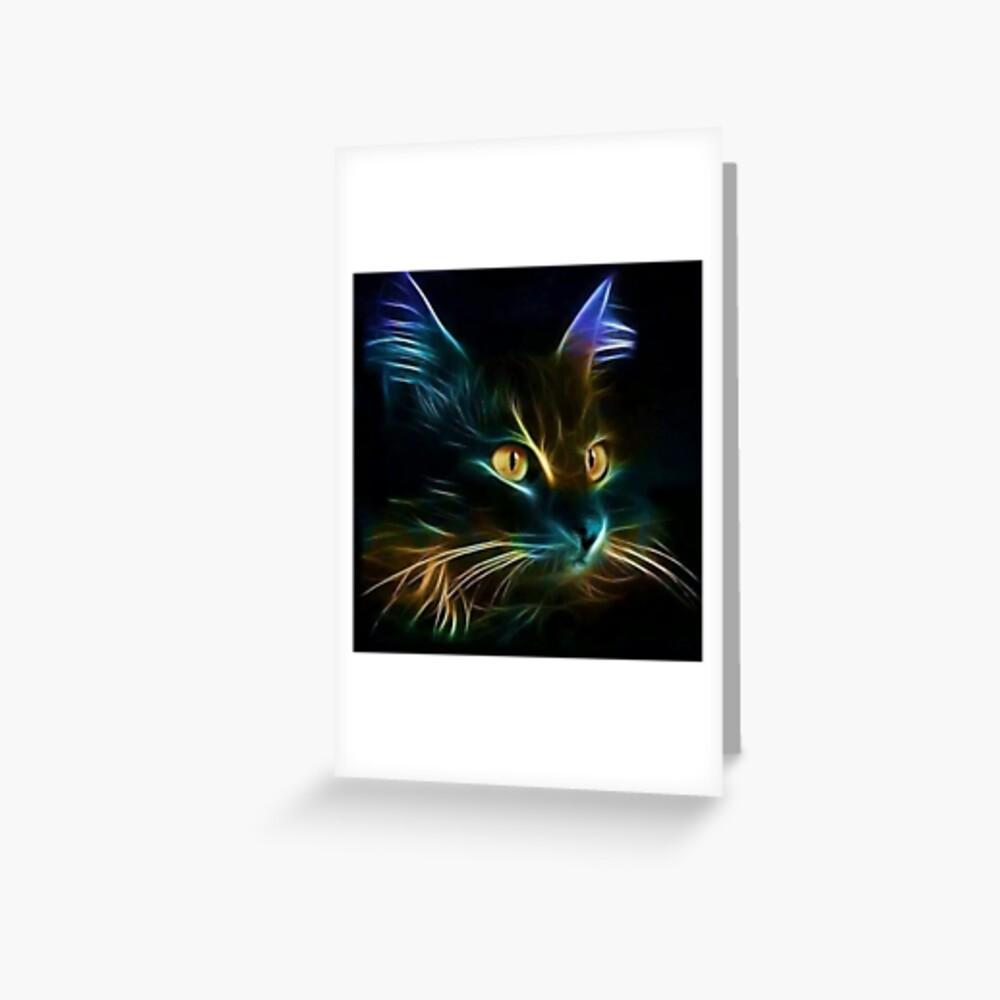 Cat Neon Tarjetas de felicitación