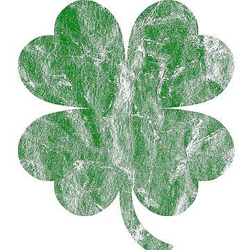 Vintage Style Distress Irish Heather Green Shamrock ST Patricks Day Ireland T-shirt by rdebeer