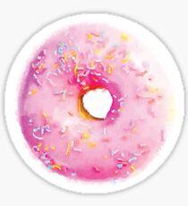 Pink Sprinkled Donut Watercolor - Hipster/Funny/Trendy Meme Sticker