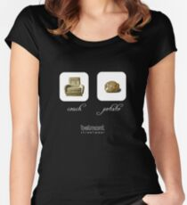 couch / potato (dark) Women's Fitted Scoop T-Shirt