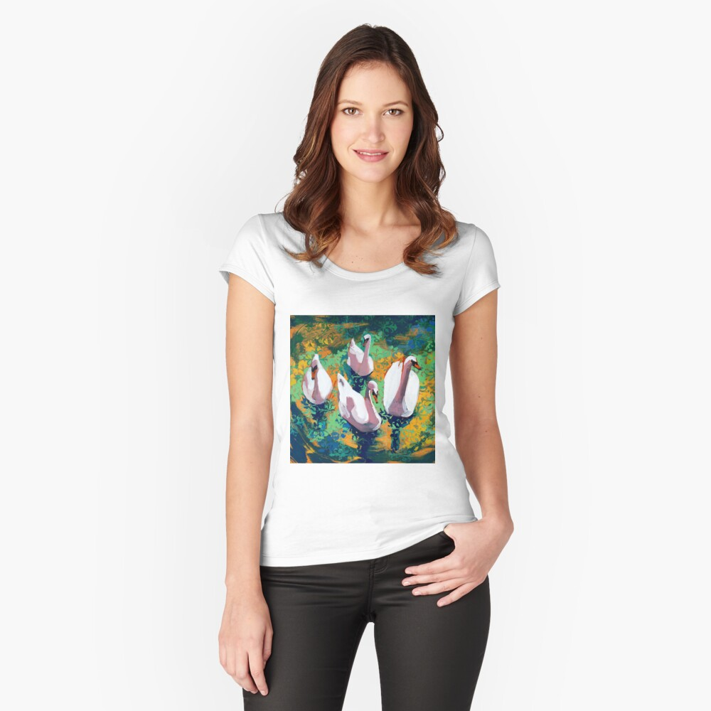 Four Swans Fitted Scoop T-Shirt