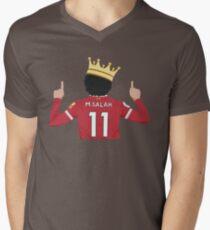 Mo Salah Egyptian King Liverpool FC Design Men's V-Neck T-Shirt