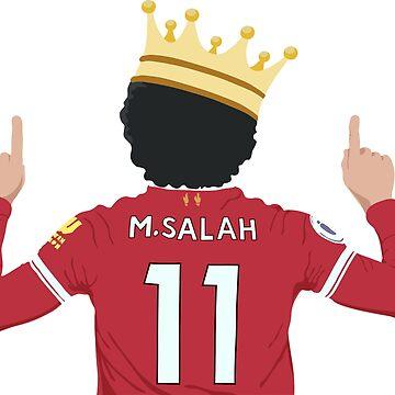 Mo Salah Egyptian King Liverpool FC Design by DanDobsonDesign