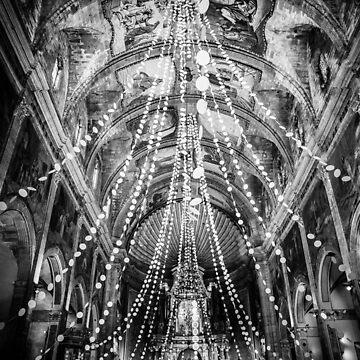 Pollença Church BW – Mallorca / Majorca by lesslinear