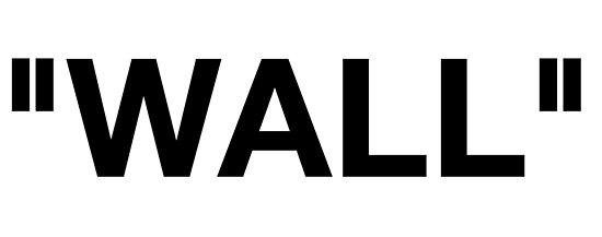 Off White Label-Wand-Logo von kingjoshuae