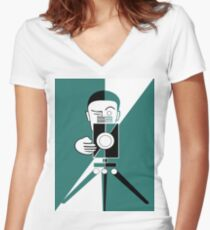 Deco style  photographer Women's Fitted V-Neck T-Shirt
