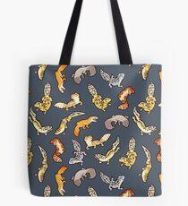 chub geckos in dark grey Tote Bag
