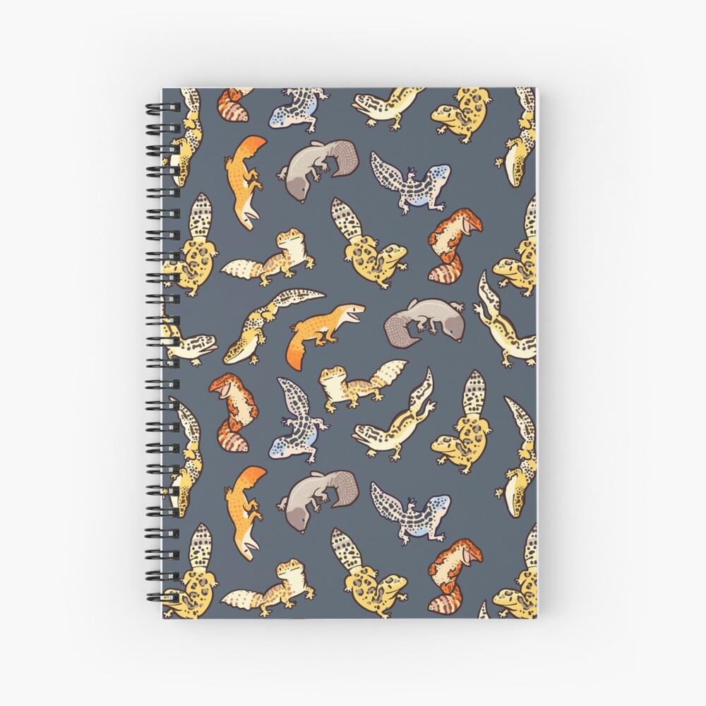 chub geckos in dark grey Spiral Notebook