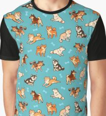 shibes in blue Graphic T-Shirt