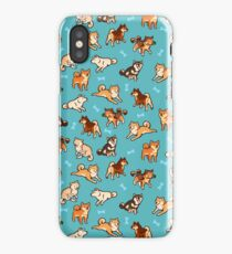 shibes in blue iPhone Case