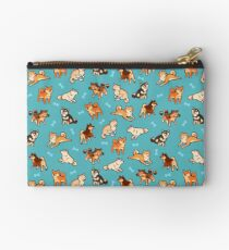 shibes in blue Studio Pouch