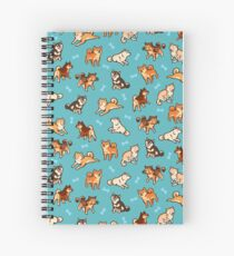 shibes in blue Spiral Notebook