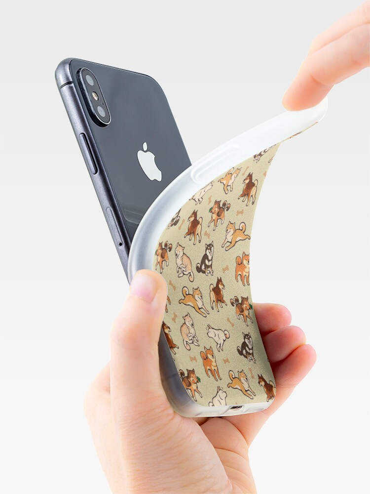 Alternate view of shibes in cream iPhone Case & Cover