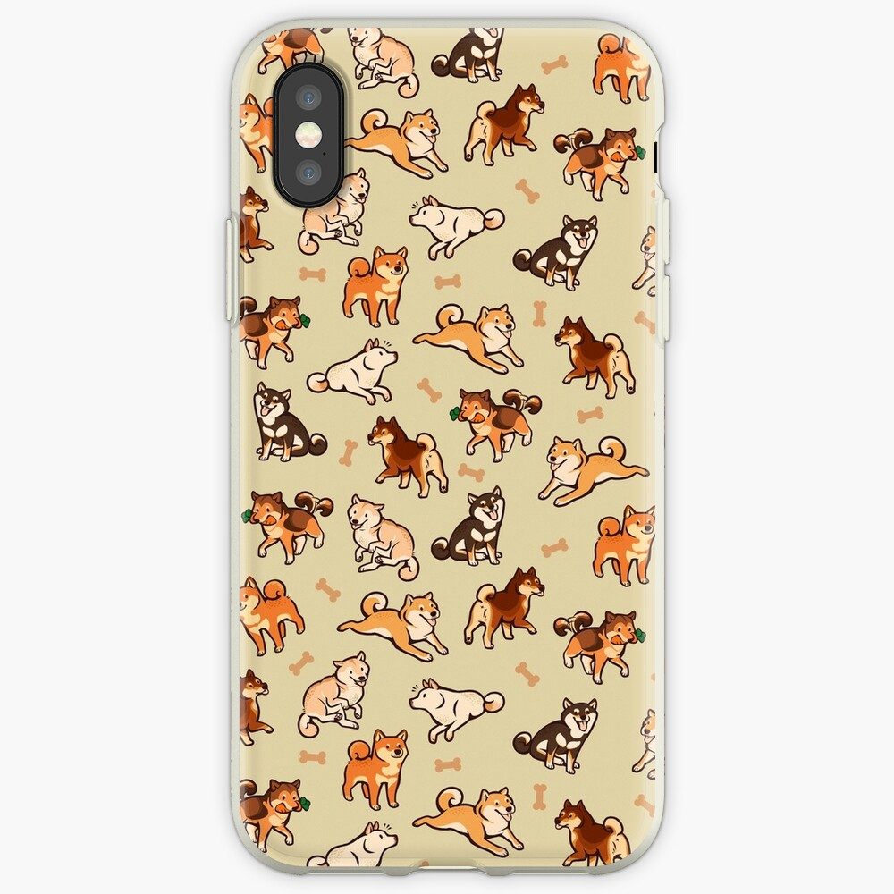 shibes in cream iPhone Case & Cover