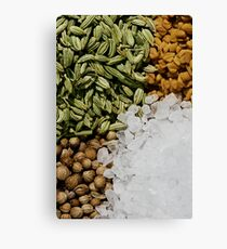 Mix of Spices Canvas Print