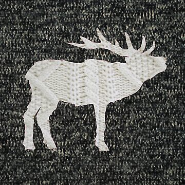 Knitted Elk Design by LeslieHarlow