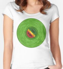 Green Vinyl Love 2 Women's Fitted Scoop T-Shirt