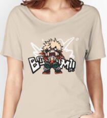 My Hero Academia: Katsuki Bakugo - BOOOM!! Women's Relaxed Fit T-Shirt