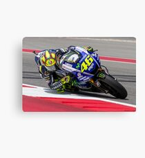Valentino Rossi at Circuit Of The Americas 2014 Canvas Print