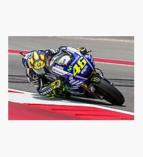 Valentino Rossi at Circuit Of The Americas 2014 Photographic Print