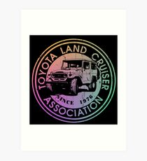 Toyota Land Cruiser Association INVERT RAINBOW DISTRESSED Art Print