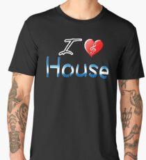 I love house heart clef Men's Premium T-Shirt