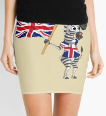 A British Zebra Mini Skirt