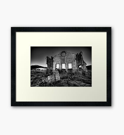 It's All Black and White - Blast Furnace Park , Lithgow NSW 0 The HDR Experience Framed Print