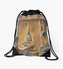 Shedding Light on the past Drawstring Bag