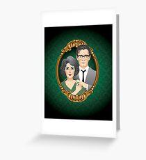 George & Martha Greeting Card