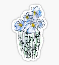 Messy Flowers Sticker
